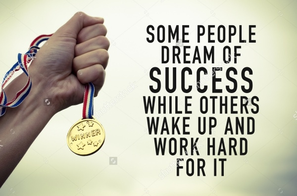 Motivational Success Quote Poster