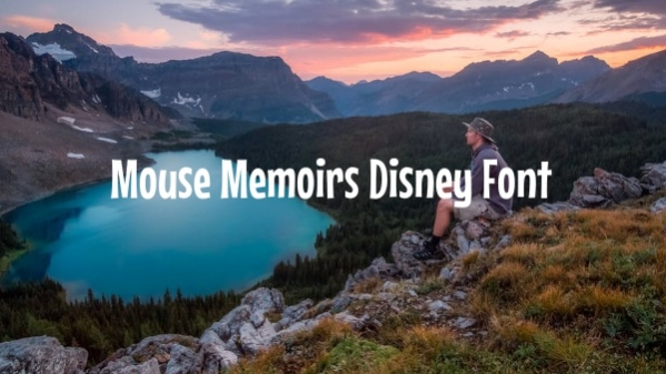 Mouse Memoirs Disney Font