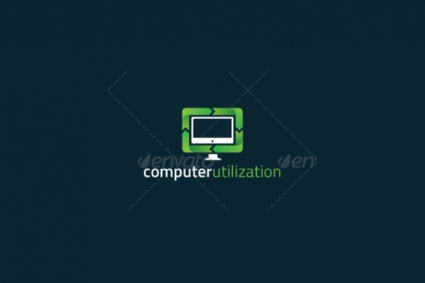 Multi-color Computer Utilization Logo