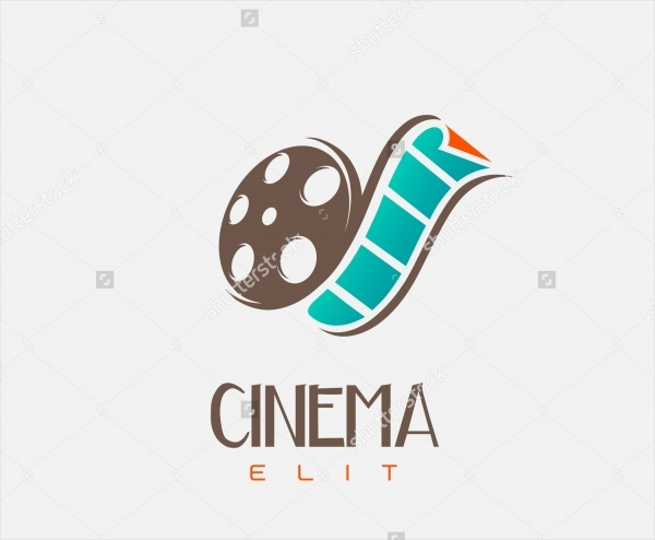 Multicolor Cinema Logo for Entertainment