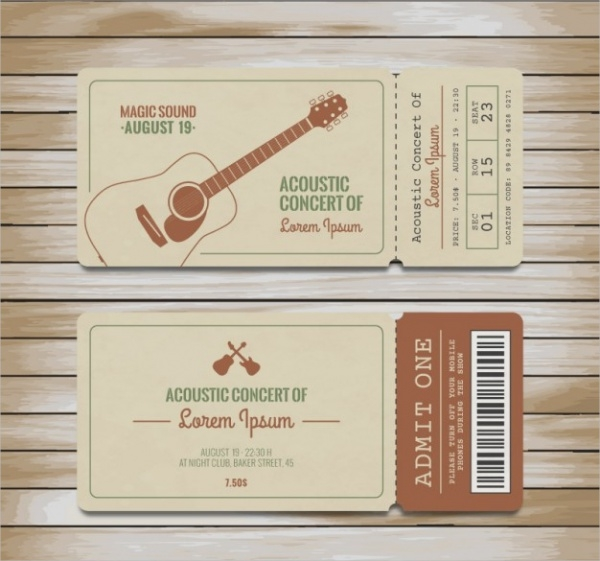 Music Concert Ticket Design