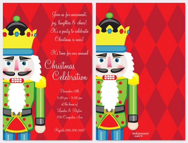 Nutcracker Christmas Program Invitation