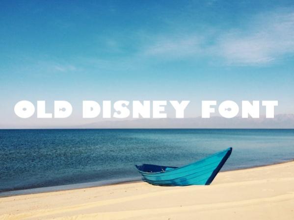 Old Disney Font