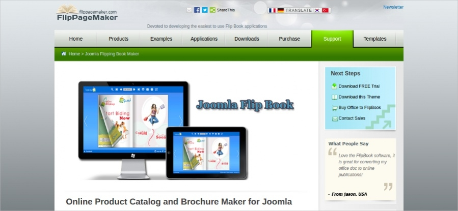 Online Product Catalog and Brochure