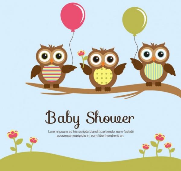 Owl Baby Shower Sample Design