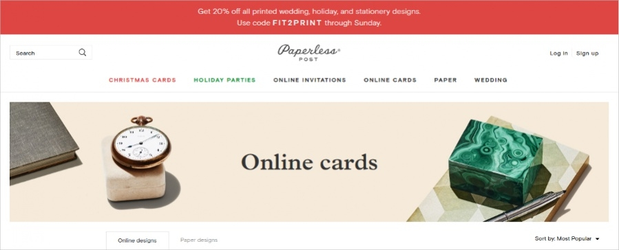 Paperlesspost - Online Cards Design