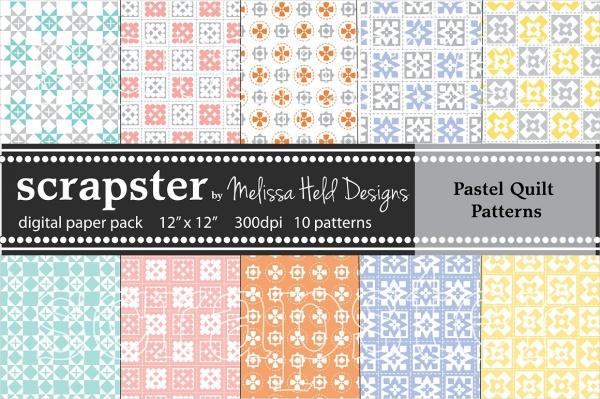 Pastel Quilt Pattern Design