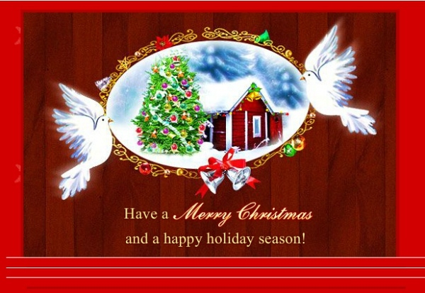 Personalized Christmas Spirit Card