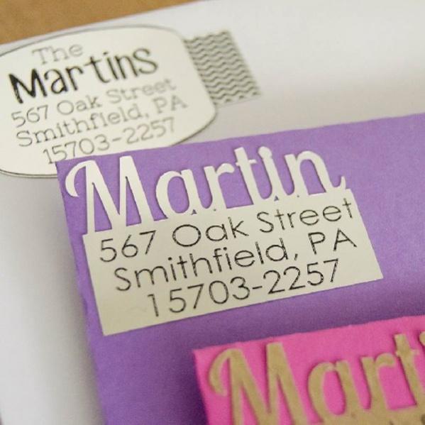 personalized diy return address labels