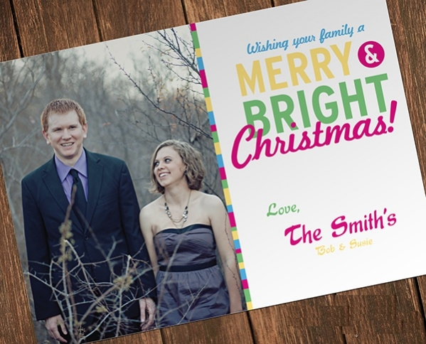 Personalized Holiday Photo Christmas Card