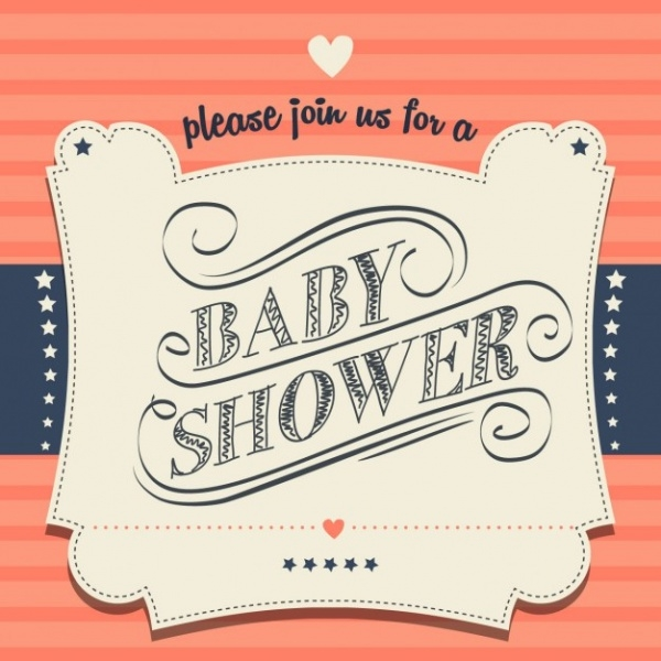 Personalized Retro Baby Shower Invitation Free