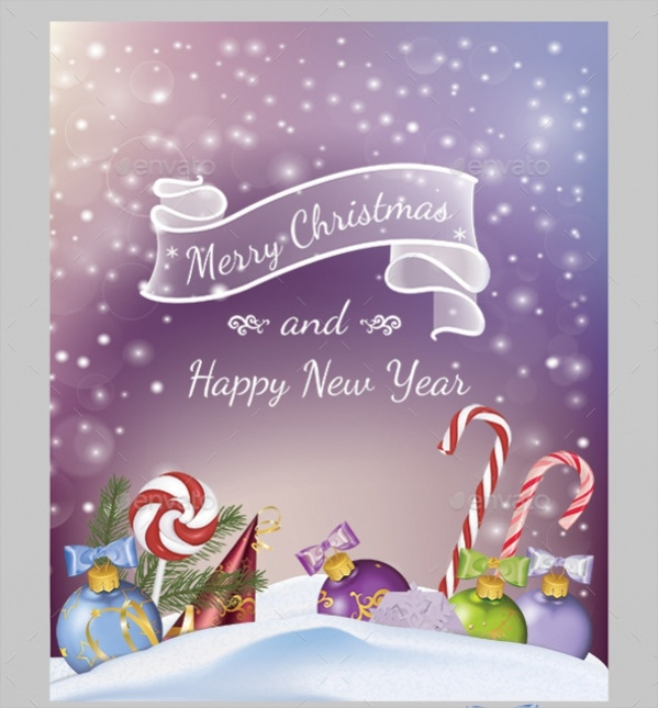 Candy & Snowflakes Christmas Card
