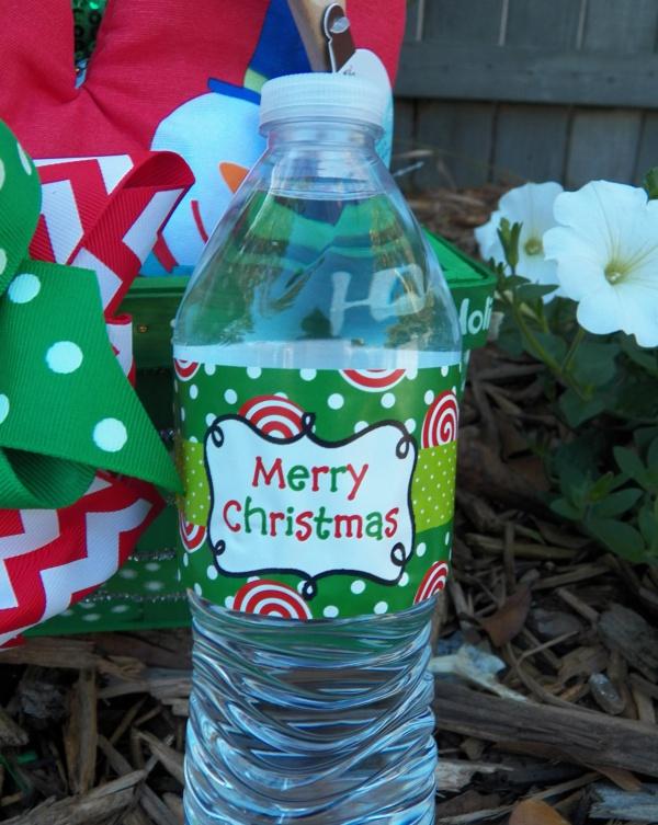 Plastic Christmas Water Bottle Packaging