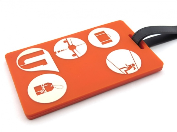 Plastic Luggage Tag Design