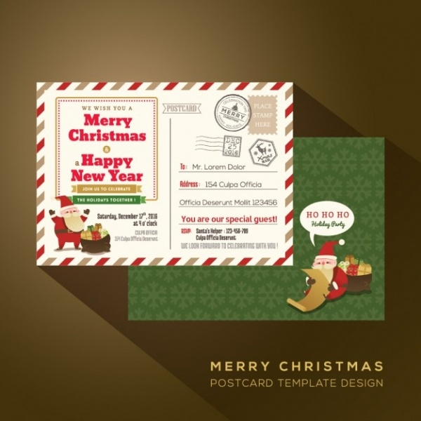 Postal Letter Christmas Card Design