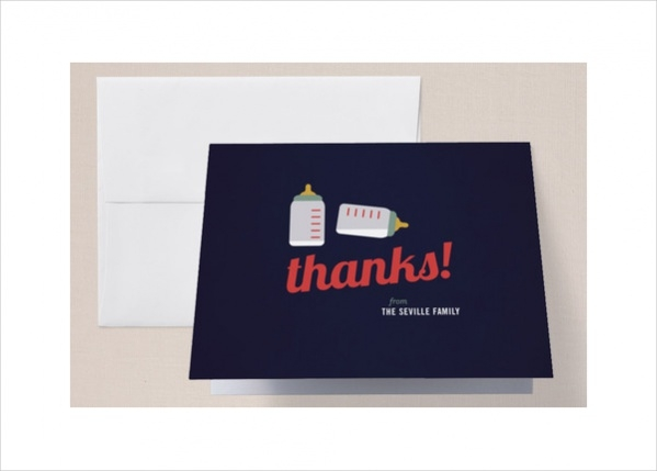 Print Baby Shower Thank You Card