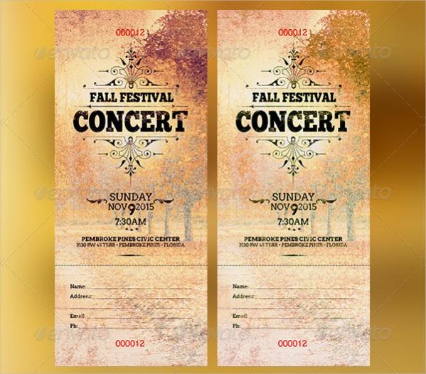 Print Concert Ticket