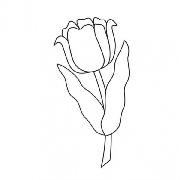 Print Flower Coloring Page