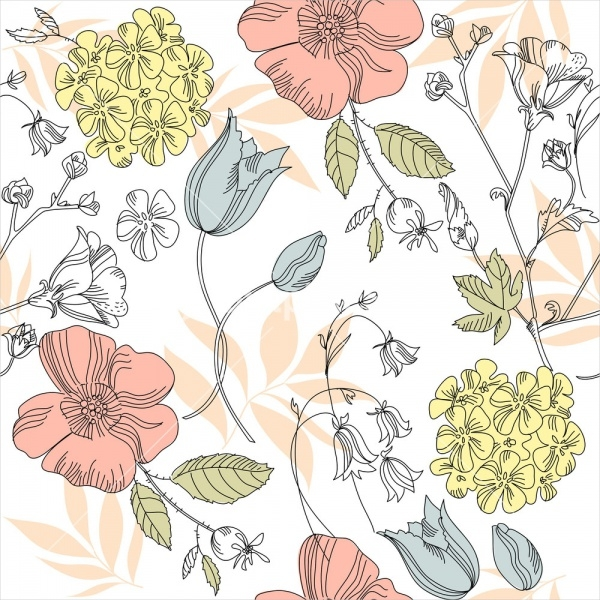Print Flower Pattern