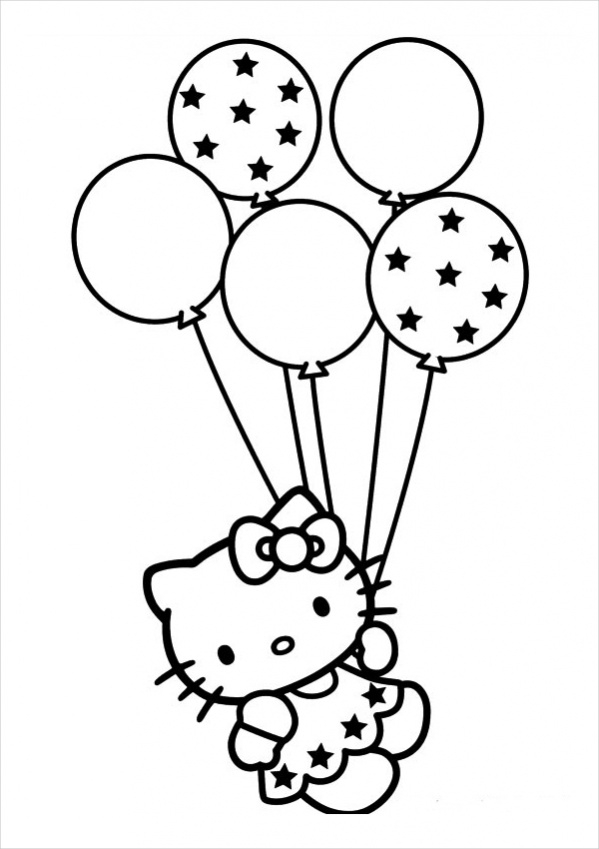 Print Hello Kitty Coloring Page