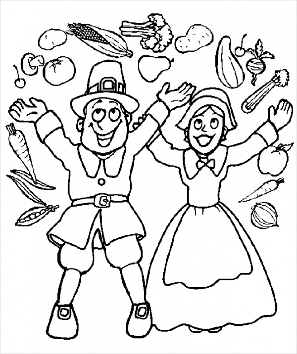 Print Thanksgiving Coloring Page