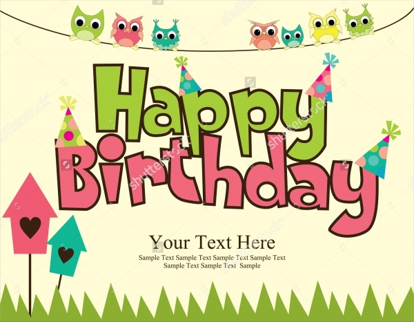 Printable Birthday Card Design