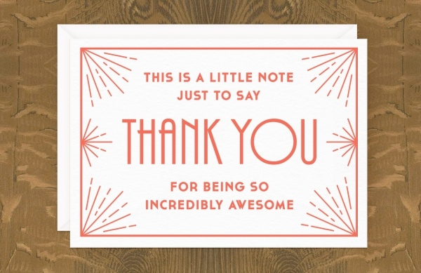 Printable Birthday Thank You Card