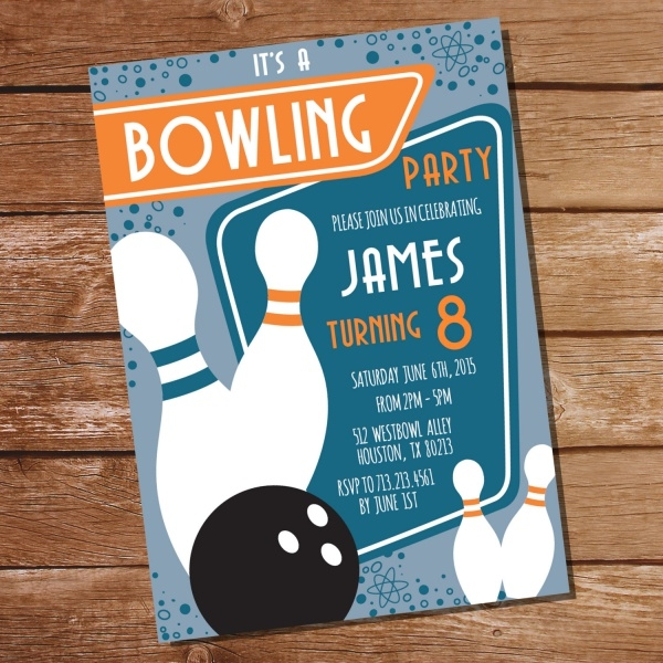 Printable Bowling Party Invitation