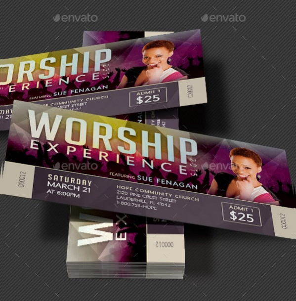Printable Concert Ticket Design