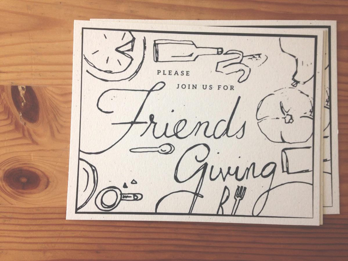 Printable Friendsgiving Invitation