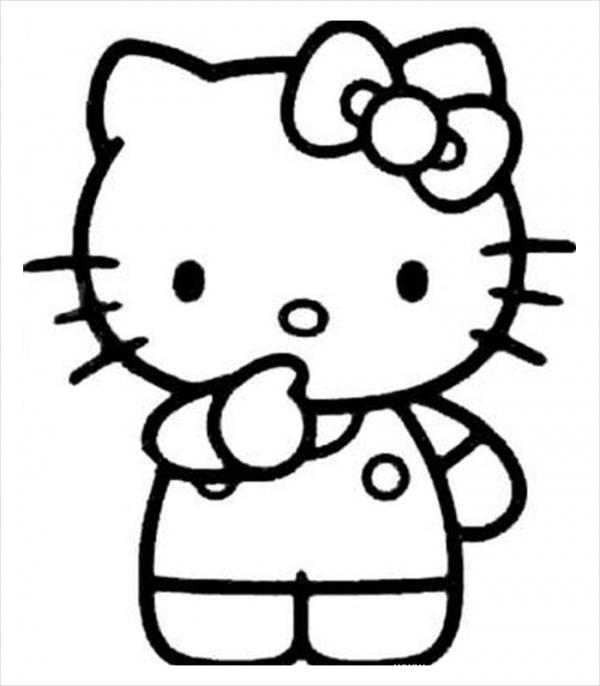 Printable Hello Kitty Coloring Page