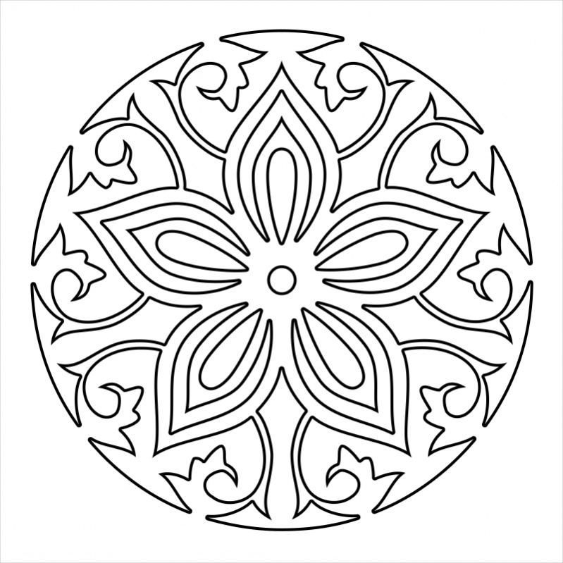 22 Mandala Coloring Pages JPG AI Illustrator Download