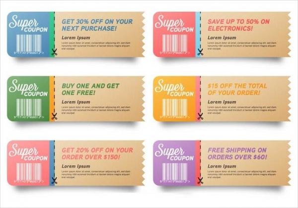 Printable Sample Coupon Design