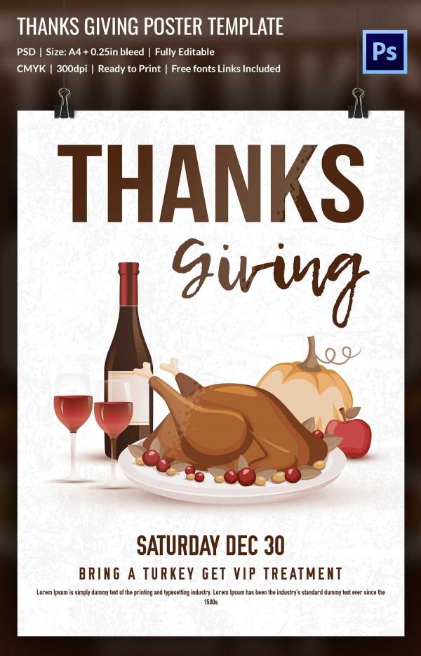 Printable Thanksgiving Poster