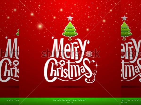 Printable Vector Christmas Card