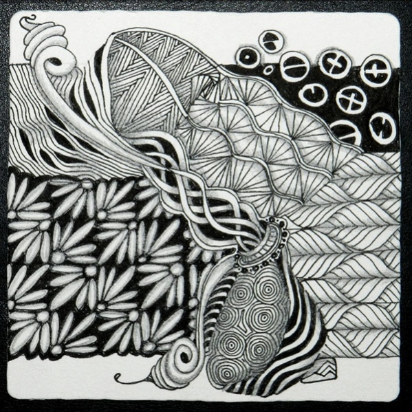 printable zentangle pattern