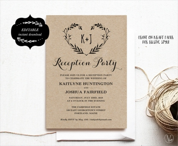 Reception Party Invitation