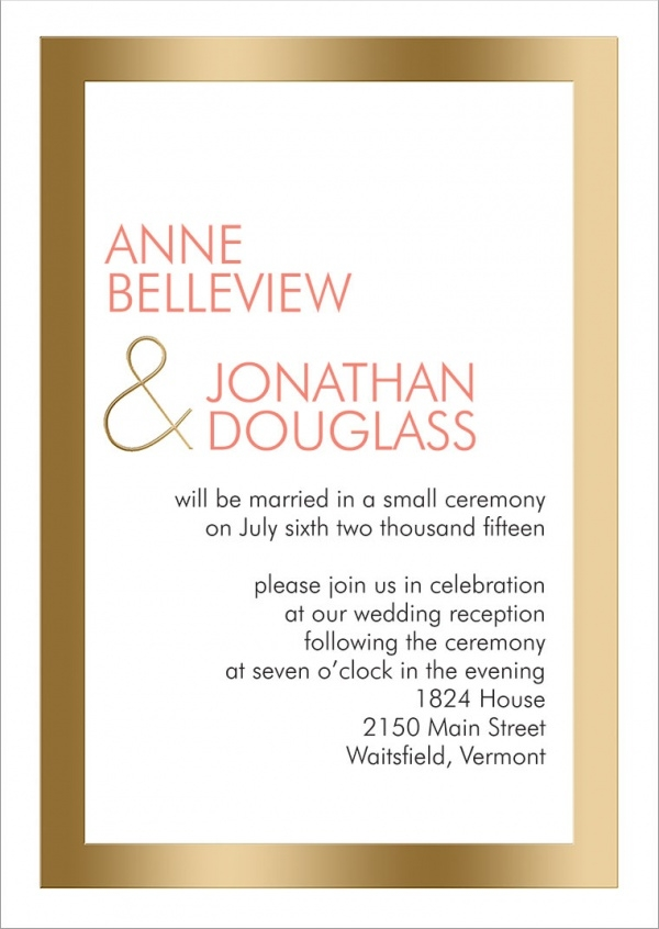 reception wording invitation