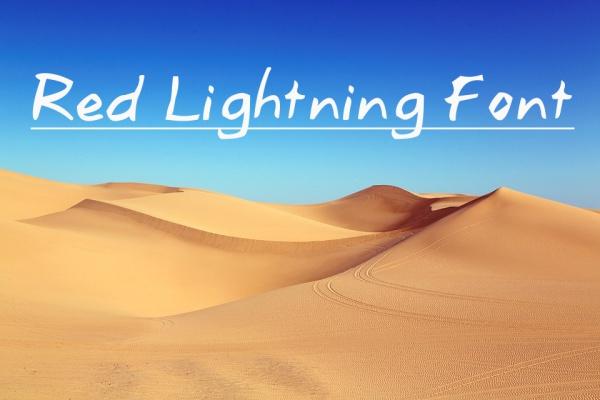Red Lightning Font