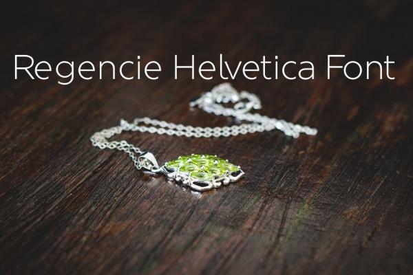 Regencie Helvetica font