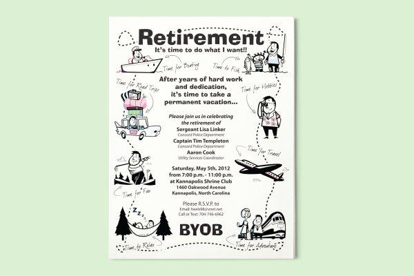 Retirement Announcement Flyer Template Elitadearest