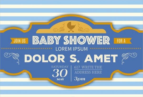 Retro Baby Shower Printable
