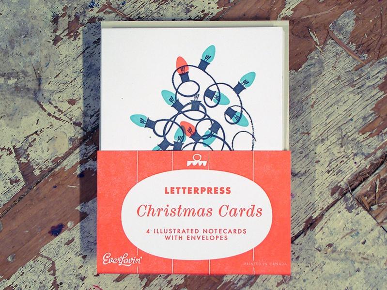 Retro Christmas Print Greeting