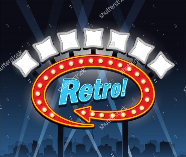 Retro Hotel Banner Sign Design