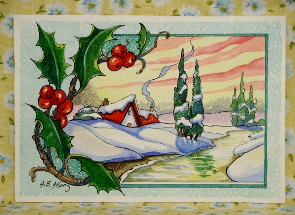 Retro Watercolor Paintings