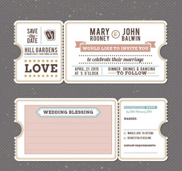 Retro Wedding Invitation Sample