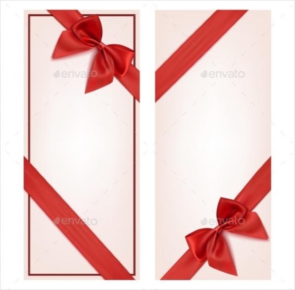 Ribbon Bow Gift Card