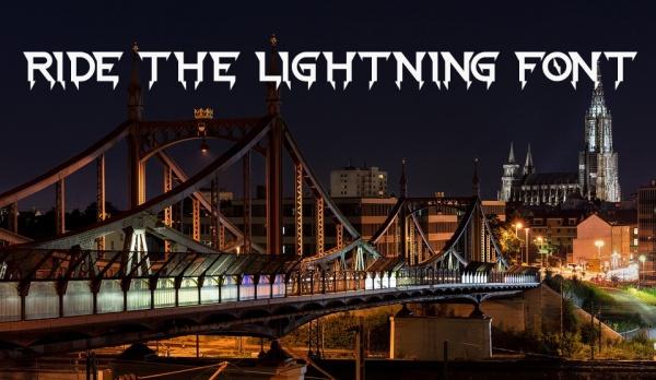 Ride The Lightning Font