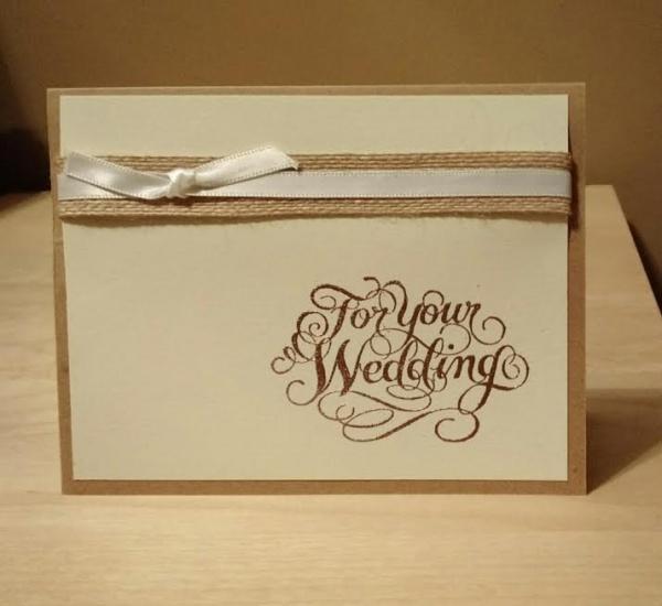 Rustic Wedding Card
