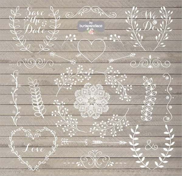 Rustic Wedding Clipart Design